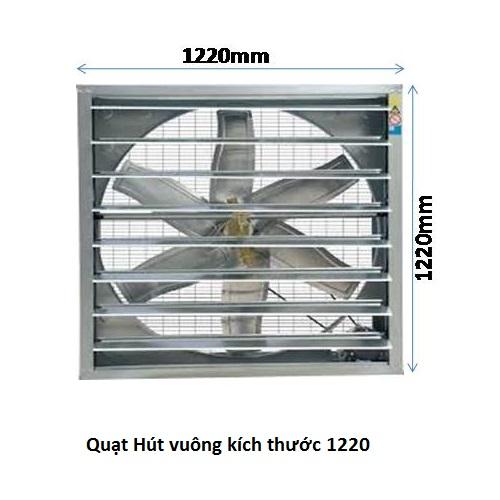 quạt hút gió vuông 1220x1220x400