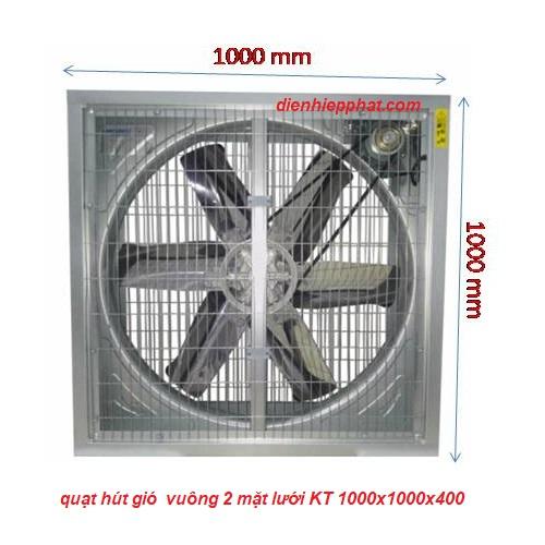 QUẠT HÚT CÔNG NGHIỆP 1000X1000X400