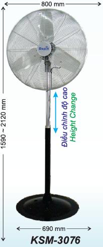 bán quạt đứng công nghiệp cánh 760 mm